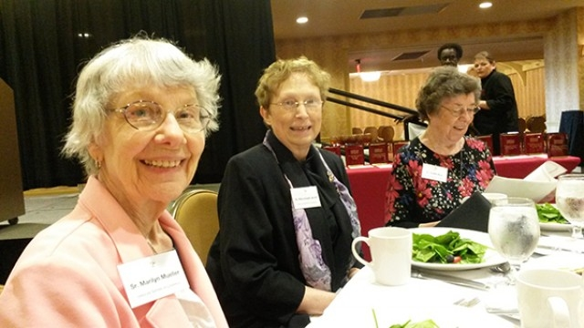 Srs. Marilyn Mueller, Rita Joseph Jarrell and Judith Rice