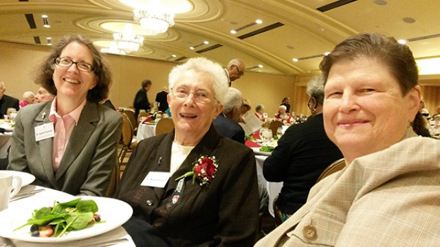 Srs. Agnes Coveney, Martha Buser, and Jean Anne Zappa