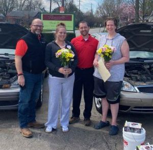 Ursuline Sisters partnered with Big O St. Matthews to donate vehicles